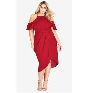 City Chic S/16 Siren Red Love Siren Dress BR75